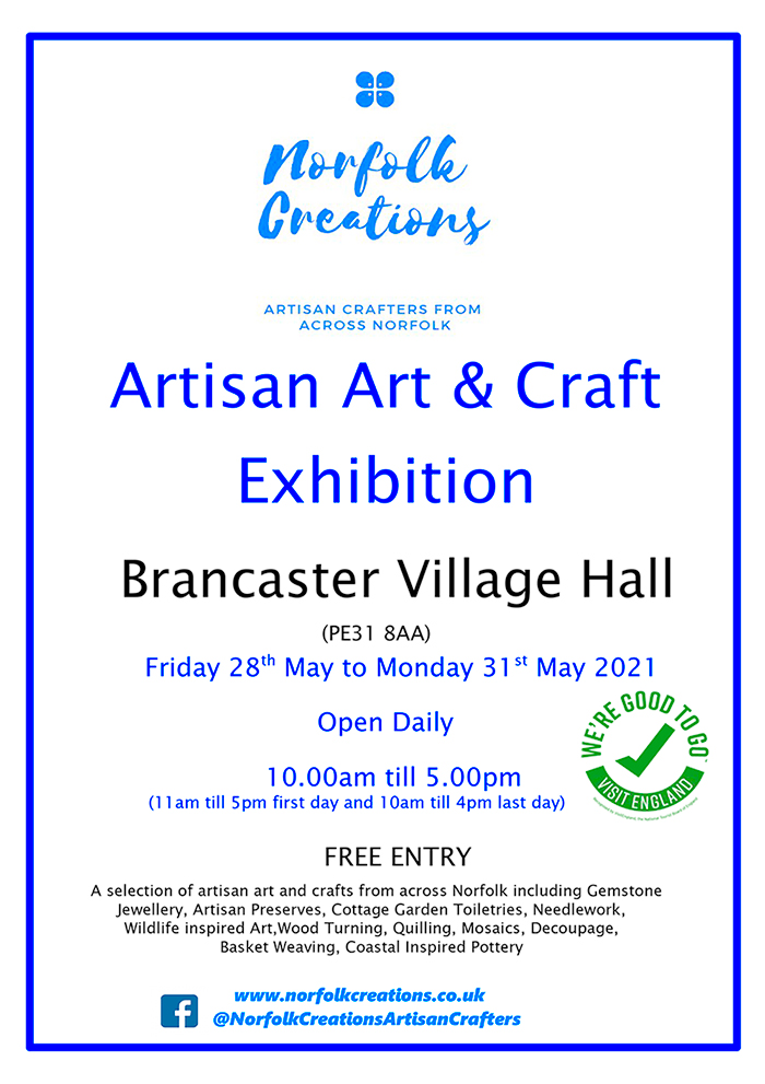Advertising-Poster---Brancaster-Village-Hall---28th-to-31st-May-2021